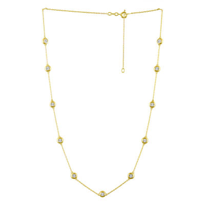 14K Gold Over Silver 24 Inch Chain Necklace