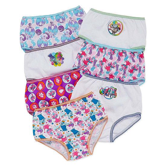 Girls 7 Pack Trolls Brief Panty Preschool