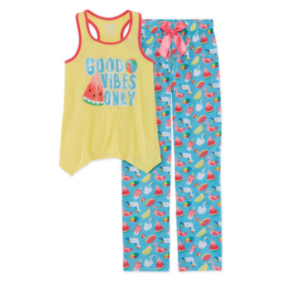 Good Vibes  2pc Pant Pajama Set - Girls