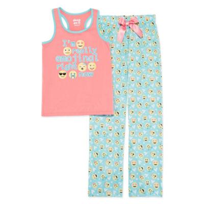 Sleep On It 2-pack Pant Pajama Set Girls