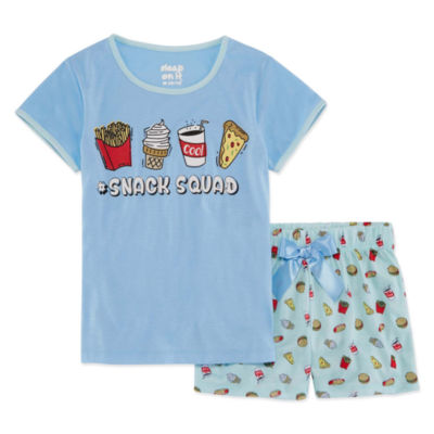 Sleep On It 2pc Short Pajama Set Girls