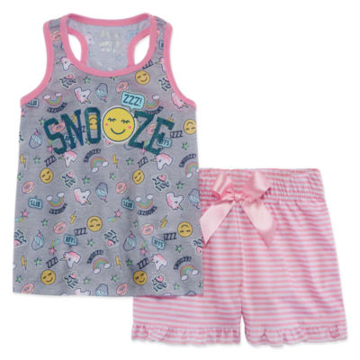 Snooze 2pc Short Pajama Set - Girls