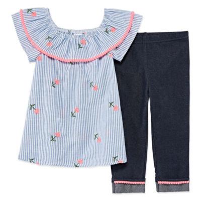 "Okie Dokie Legging 2-pack Set- Toddler Girls"" 2T-5T"