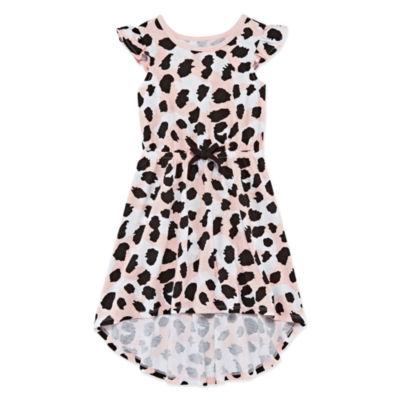 Okie Dokie Short Sleeve Pattern Maxi Dress - Toddler Girls