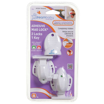 Dreambaby® Adhesive Mag Lock 8 Locks, 1 Key