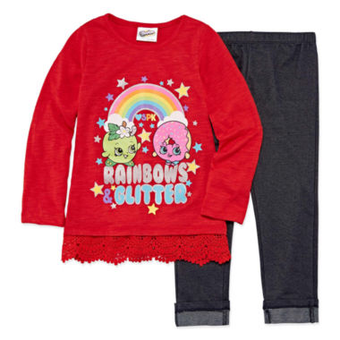Shopkins 2-pc. Shopkins Legging Set-Preschool Girls