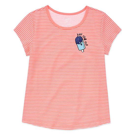 """Arizona Short Sleeve Graphic T-Shirt - Girls"""" 4-16 & Plus"""