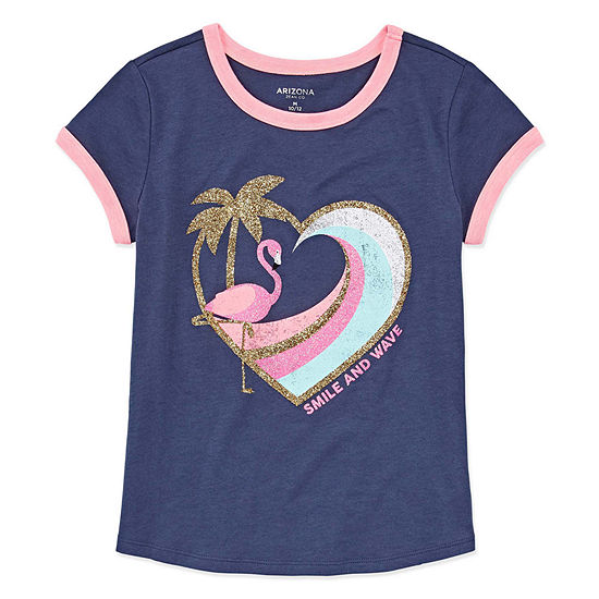 Arizona Short Sleeve Graphic Ringer Tee - Girls' 4-16 & Plus