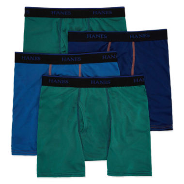 Hanes 4 Pair Boxer Briefs Big Kid Boys