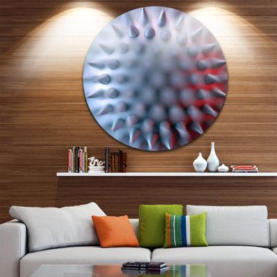 Designart Macro Prickly Texture Design Abstract Circle Metal Wall Art