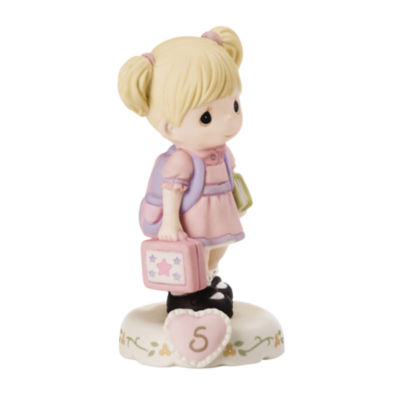 "Precious Moments  ""Growing In Grace  Age 5""  Bisque Porcelain Figurine  Blonde Girl  #152011"