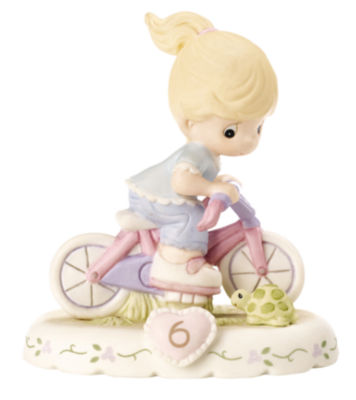 """Precious Moments  """"Growing In Grace  Age 6""""  Bisque Porcelain Figurine  Blonde Girl  #152012"""