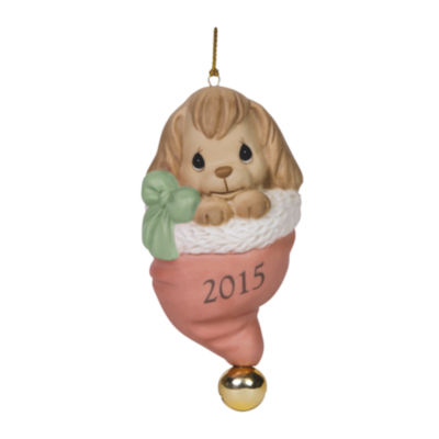 "Precious Moments  Christmas 2015  ""Happy Howlidays""  2015  Bisque Porcelain Ornament  #151008"