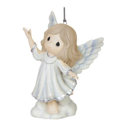 "Precious Moments  Annual Angel Series  Fifth In Series  ""Lift Every Voice And Sing""  Bisque Porcelain Ornament  #151025"