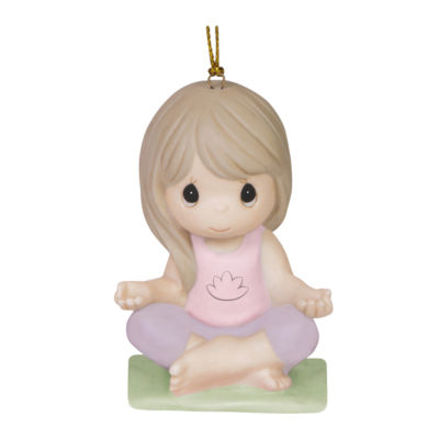 "Precious Moments ""Peace And Serenity"" Bisque Porcelain Ornament #151039"