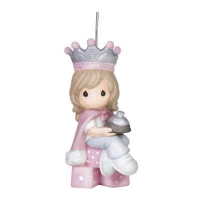 "Precious Moments  ""Bunco Queen""  Bisque Porcelain Ornament  #151040"