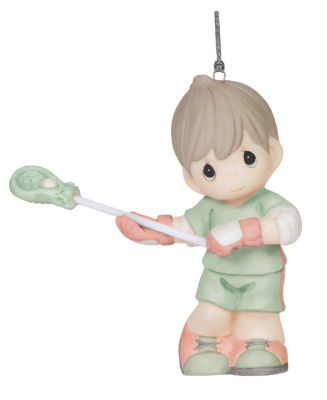 "Precious Moments  ""Checking It Twice""  BisquePorcelain Ornament  #151043"