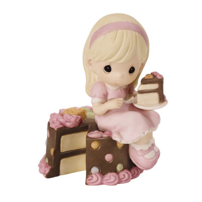 "Precious Moments  ""Have Your Cake And Eat It Too""  Bisque Porcelain Figurine  #152000"