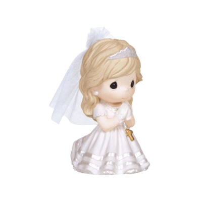 """Precious Moments  """"Remembrance Of My First HolyCommunion""""  Bisque Porcelain Figurine  Girl  #133024"""
