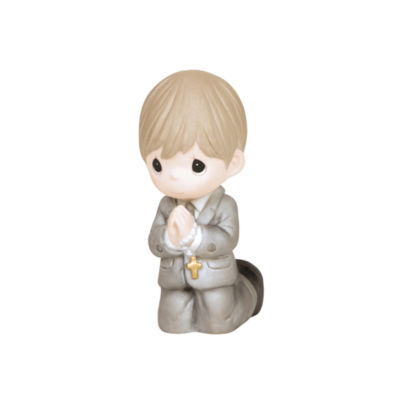 "Precious Moments  ""Remembrance Of My First HolyCommunion""  Boy  Bisque Porcelain Figurine  #133025"