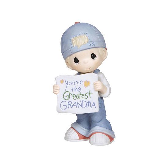 "Precious Moments  ""You're The Greatest Grandma Bisque Porcelain Figurine  Boy  #133034"
