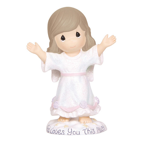 """Precious Moments  """"God Loves You This Much""""  Resin Figurine  #124403"""