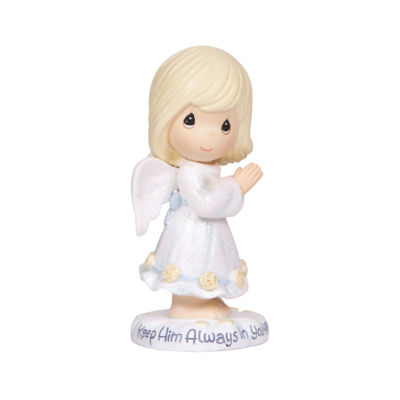 "Precious Moments  ""Keep Him Always In Your Heart""  Resin Figurine  #124404"
