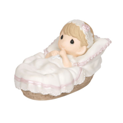 "Precious Moments  ""Baptized In His Name""  GirlBisque Porcelain Figurine  #143011"