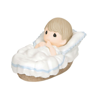 "Precious Moments  ""Baptized In His Name""  BoyBisque Porcelain Figurine  #143012"