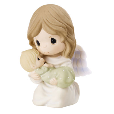 """Precious Moments  """"Safe In The Arms Of An AngelBisque Porcelain Figurine  #152007"""