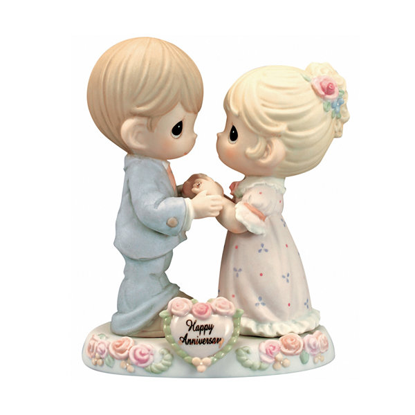 "Precious Moments  ""Our Love Was Meant To Be""Bisque Porcelain Figurine  #115909"