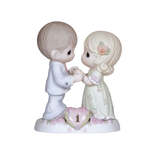 "Precious Moments ""A Whole Year Filled With Special Moments"" 1st Anniversary  Bisque Porcelain Figurine  #115910"