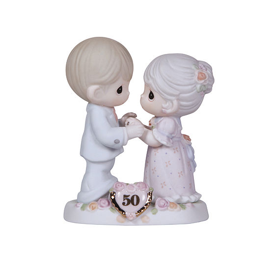 """Precious Moments """"We Share A Love Forever Young""""  50th Anniversary Bisque Porcelain Figurine  #115912"""