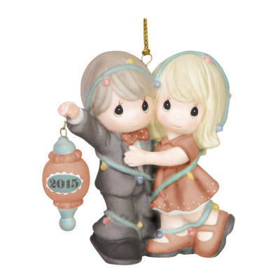"Precious Moments  Christmas 2015  ""Our First Christmas Together""  Bisque Porcelain Ornament  #151004"