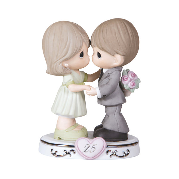 "Precious Moments  ""Through The Years - 25th Anniversary""  Bisque Porcelain Figurine  #123020"