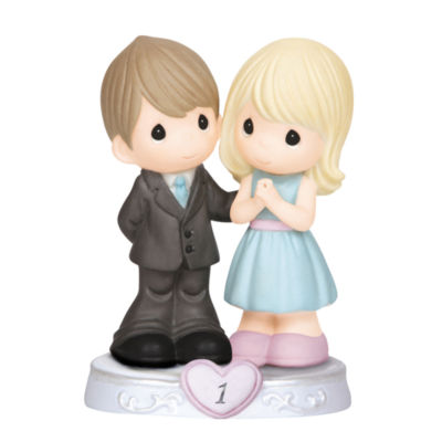 """Precious Moments  """"Through The Years - 1st Anniversary""""  Bisque Porcelain Figurine  #143017"""