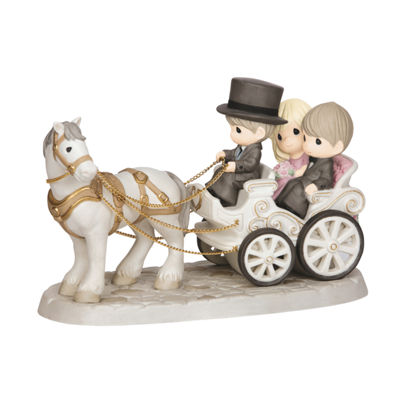 "Precious Moments  ""Together Wherever We Go""  Bisque Porcelain Deluxe Sculpture  #143014"