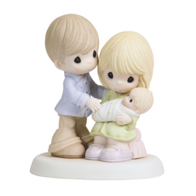 """Precious Moments  """"In Our Hearts From The Very Start""""  Bisque Porcelain Figurine  #112004"""