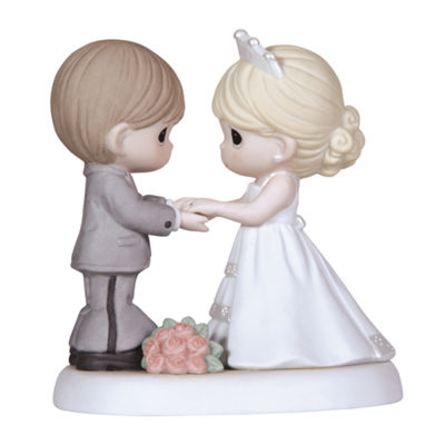 "Precious Moments  ""From This Day Forward"" Bisque Porcelain Figurine  #123017"