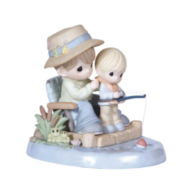 """Precious Moments  """"I Love Spending Time With You""""  Bisque Porcelain Figurine  #124006"""