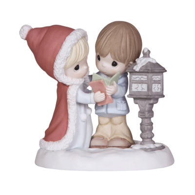 "Precious Moments  ""Tidings Of Comfort And Joy""Bisque Porcelain Figurine  #131012"