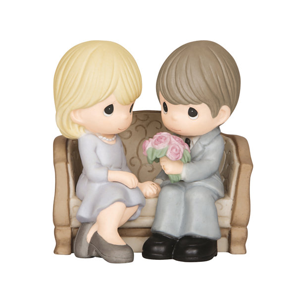 "Precious Moments  ""An Everlasting Love""  Bisque Porcelain Figurine  #143016"