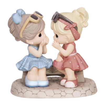 "Precious Moments  ""That's What Friends Are ForBisque Porcelain Figurine  #134016"