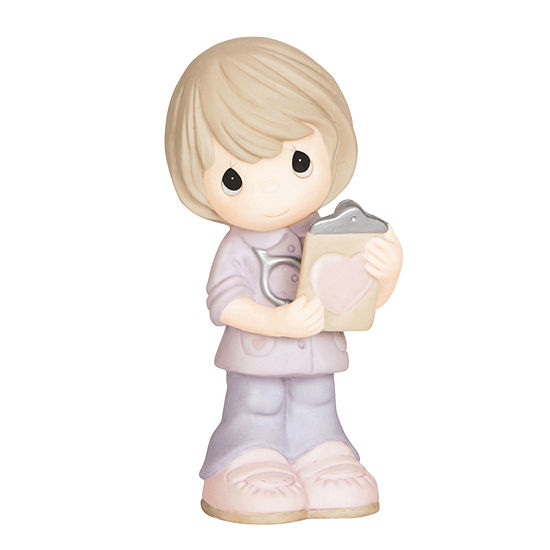 """Precious Moments  """"Heart Of Gold""""  Bisque Porcelain Figurine  #143030"""