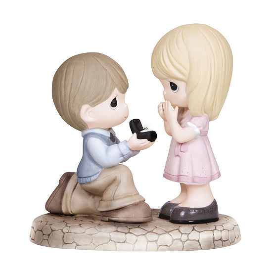 "Precious Moments ""Will You Marry Me?"" Bisque Porcelain Figurine #133022"