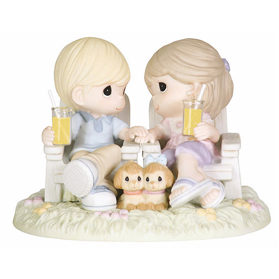 Precious Moments Always Be By My Side Bisque Porcelain Figurine 104018