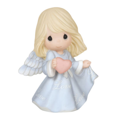 "Precious Moments  ""Love Angel""  Bisque Porcelain Figurine  #144021"