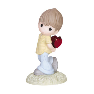 "Precious Moments  ""My Heart Shines For You""  Bisque Porcelain Figurine  #133002"