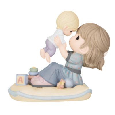 "Precious Moments  ""A Love As High As The Sky""Bisque Porcelain Figurine  #144003"