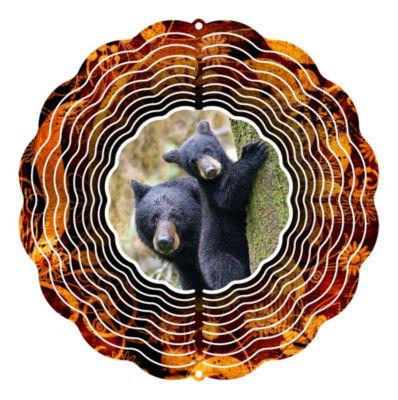 Garden Art Wind Spinner Black Bear 10-inch Wind Spinner